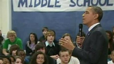 Students React To Obama's School Visit