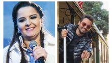 Fernando, da dupla com Sorocaba, beija Maiara e cria climão com fãs de Carla Diaz