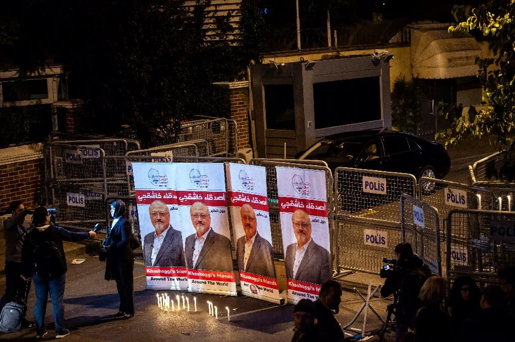The killing of Saudi journalist Jamal Khashoggi inside the kingdom's consulate in Istanbul by a team sent from Riyadh on October 2 has already severely tarnished Riyadh's global reputation (AFP Photo/Yasin AKGUL)