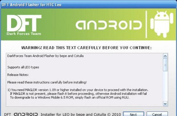 HTC HD2 gets a stable stock Android build for internal storage