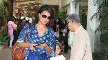 Finally we get a good look at Lara Dutta's adorable daughter