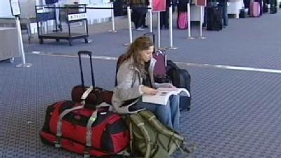 Travelers Stranded At CVG By East Coast Storms