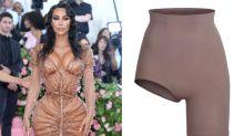 Kim Kardashian's Skims collection features a bizarre pair of asymmetric cycling shorts