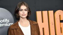 Cindy Crawford's daughter Kaia Gerber shows off new angel tattoo in topless Instagram photo