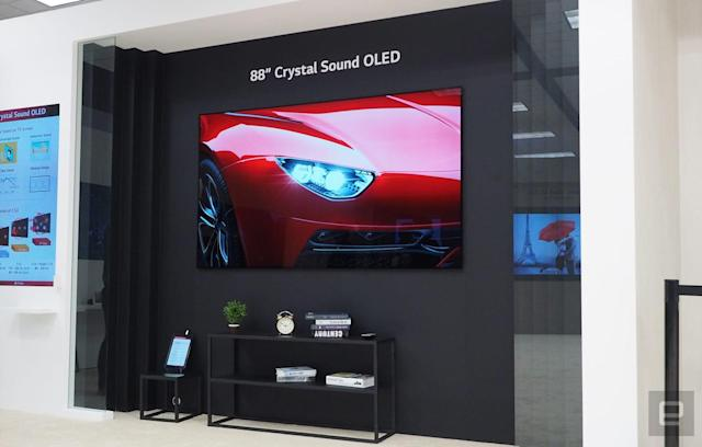 LG Display's 88-inch 8K OLED has Dolby Atmos sound but no speakers