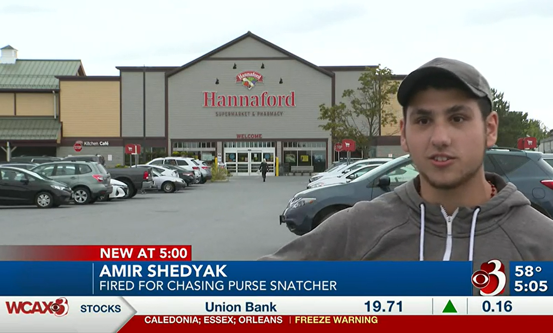 Outcry after store employee says he was fired for stopping purse thief in Vermont