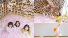 東京超正「櫻花溫泉」 過百萬朵櫻花瓣打咭必去