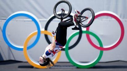 Charlotte Worthington wins historic gold as Britain's BMX brilliance continued