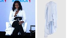 Michelle Obama shows off sartorial prowess in British label palmer//harding