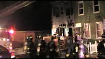 Firefighter injured battling 2-alarm fire in Trenton
