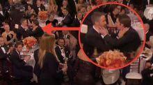 Watch Ryan Reynolds snogging Andrew Garfield as Ryan Gosling wins Golden Globe