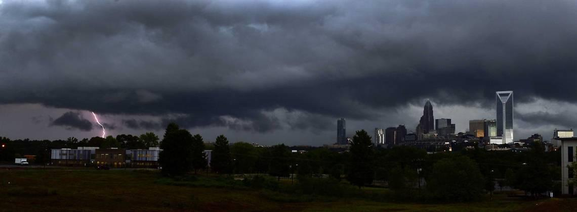 Quarter-size hail, 65-mph gusts, isolated tornado expected with Charlotte area storms