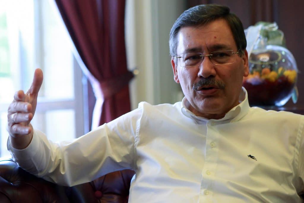 Ankara mayor since 1994, Melih Gokcek regularly updates his 3.7 million followers on Twitter (AFP Photo/ADEM ALTAN)