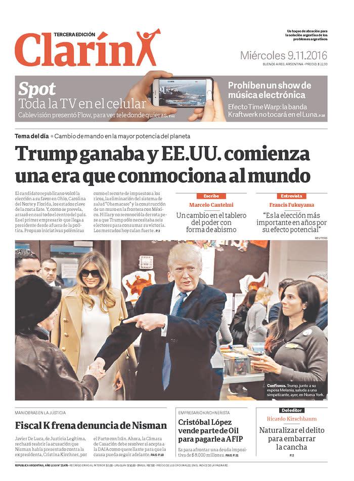 <p>Clarin Buenos Aires, Argentina. (webmedia.newseum.org) </p>