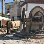 Images show devastating aftermath of powerful earthquake near Greece and Turkey