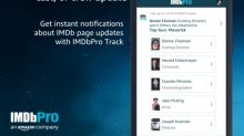 IMDbPro Track Now Notifies Members About Updates to IMDb Pages of Professionals and Projects They Follow