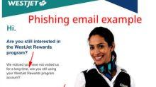 Media Advisory - WestJet warns public of phishing email scam