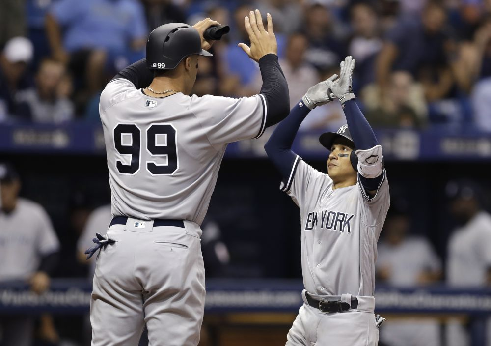 Aaron Judge and Ronald Torreyes. Who can even tell the difference? (AP)