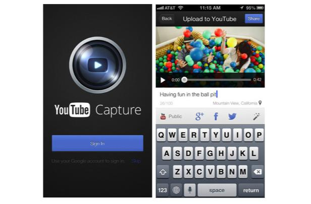 YouTube Capture for iOS updated with optional WiFi only uploads