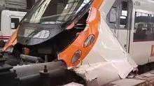 VíDEO: Así ha quedado el tren tras el accidente en la estación Francia de Barcelona