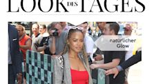 Look des Tages: Serayah McNeill mit roten Akzenten in New York