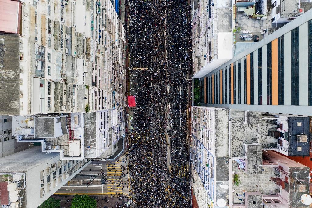 Massive demonstration chokes Hong Kong as extradition anger boils