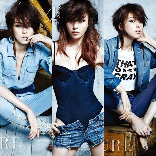 Lee Da hee shows what a sexy denim fashion is!