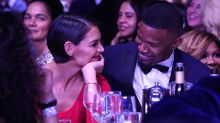 Katie Holmes Looks Smitten With Jamie Foxx in Rare Public Appearance at Pre-GRAMMYs Bash: Pics!