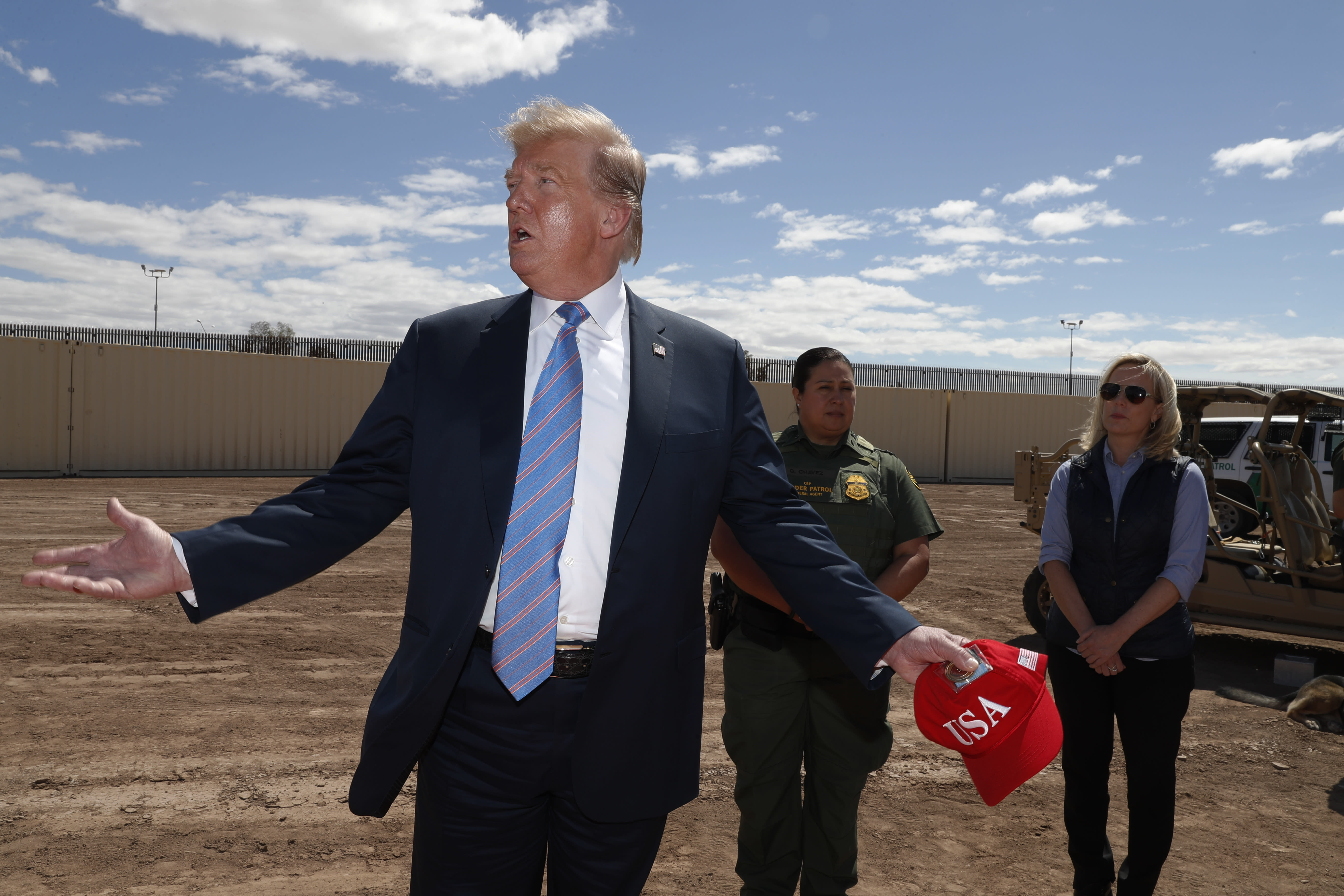 'Our country is full': Trump says migrants straining system