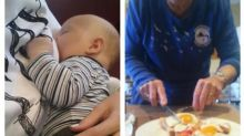 Stranger comes to breastfeeding mother's aid at restaurant