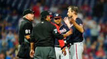 """Nationals win, overshadowed by Max Scherzer's experience with """"Manfred rules"""""""