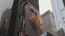 【有片】超強3D效果 時代廣場可口可樂立體廣告牌