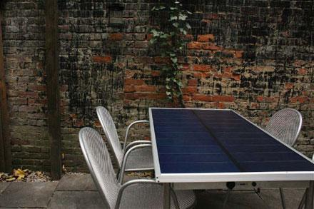 SunTable brings solar power to your patio