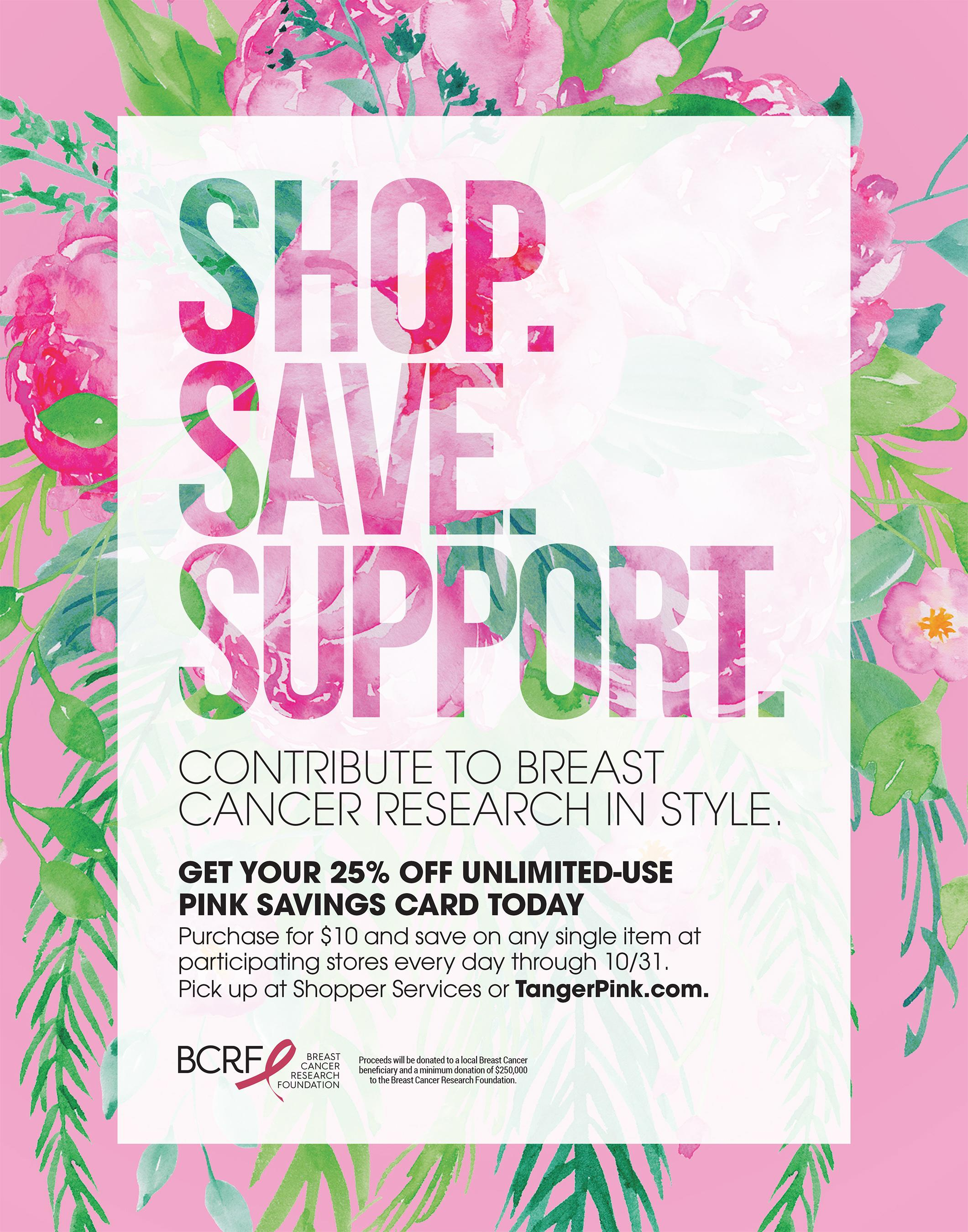 a18a95bb0 Tanger Outlets Launches 25th Annual Tanger Pink Campaign In Support Of The  Ongoing Fight Against Breast Cancer