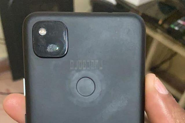 "Photo of ""Pixel 4a leaked photo"" circulates, single-lens front and rear fingerprint authentication midrange-Engadget Japanese version"