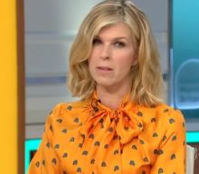 'I am at my absolute limit now': Kate Garraway asks the universe for good luck after car tyre explodes on way to visit husband in hospital