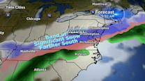 Winter storm to spare New England and sock the mid-Atlantic