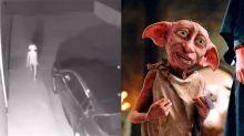 Una cámara de seguridad capta una figura misteriosa que aterroriza a la red: ¿es un alien o… Dobby de Harry Potter?