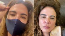 """Luciana Gimenez está a cara do meme """"exausta"""" após 40 horas de voo"""