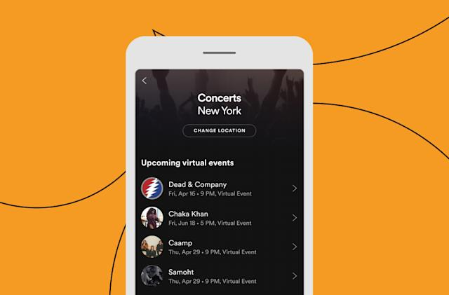 Spotify adds more livestream platforms to its virtual event listings