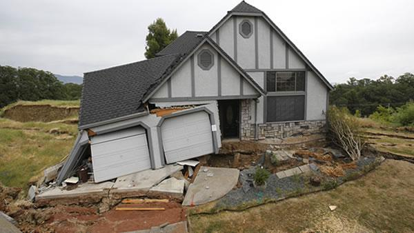 One by one, homes in Lakeport subdivision sinking