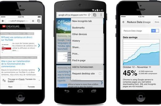 Chrome updates bring data compression to all Android and iOS users