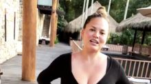 Chrissy Teigen is still wearing her maternity pants after giving birth, and she's not thrilled about it