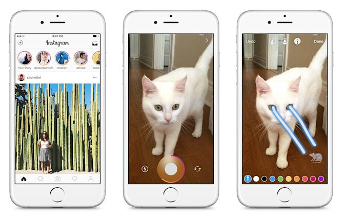 Instagram Stories' camera controls catch up to Snapchat