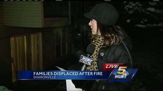 Families displaced after a fire in Sharonville