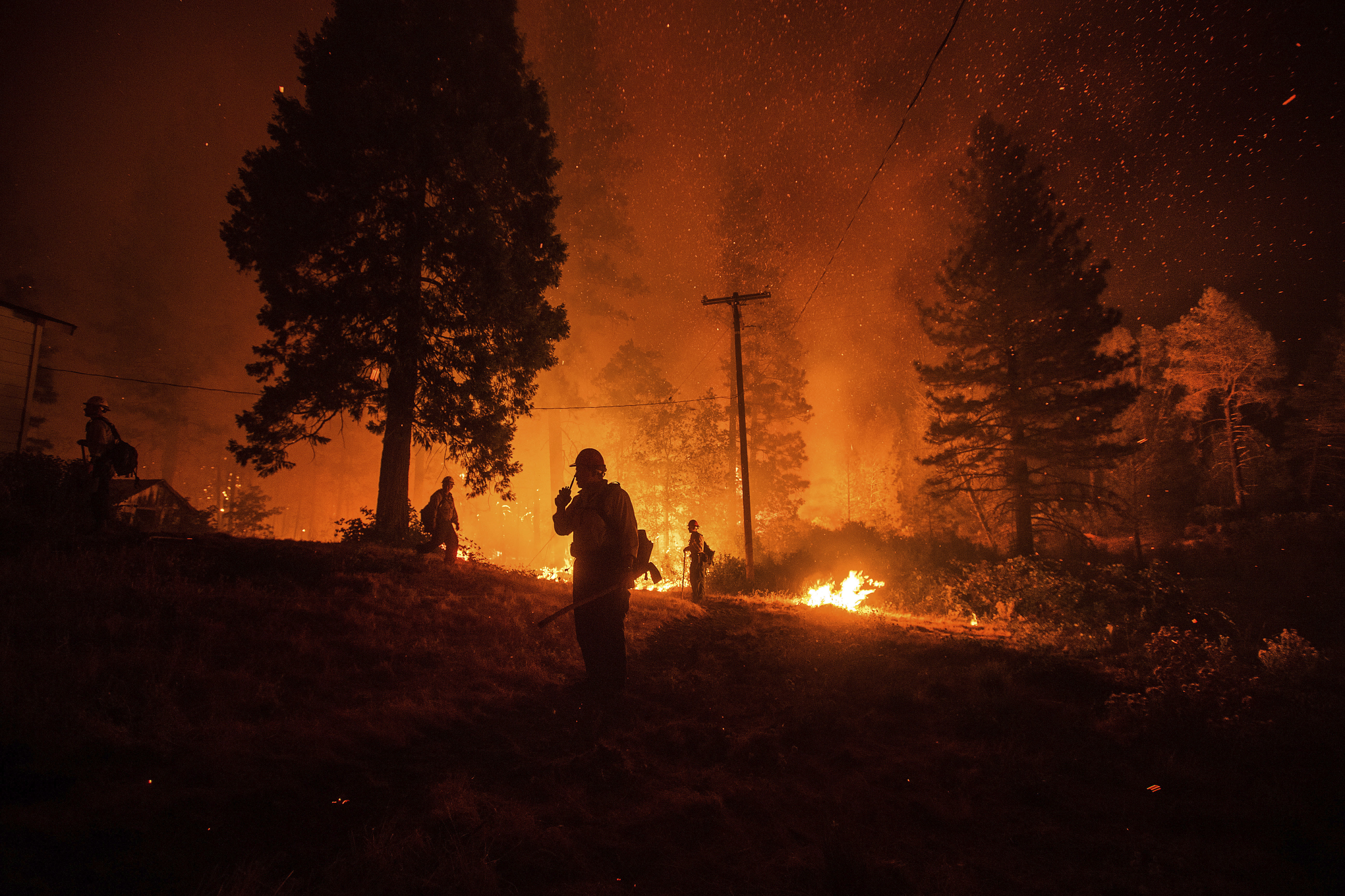 Fire keeps California north-south highway closed for 3rd day