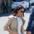 Meghan Markle Slips Into Your Fave Commuting Flats to Kick Off Royal Tour