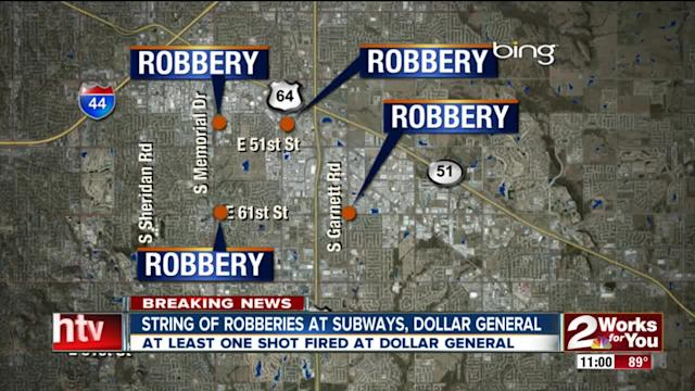 String of robberies at local Subway Restaurants