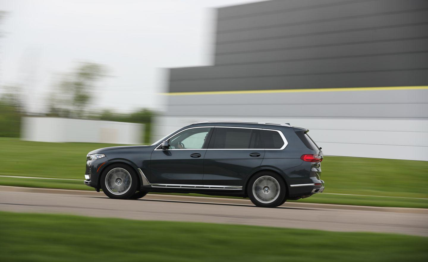 <p>The X7 rides like a taller and squishier 7-series. The Sport mode tightens the standard adaptive dampers and reduces much of the excess body roll, and it feels like it should be base setting.</p>