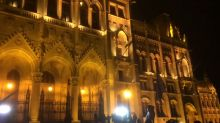 Protesters Chant After Police Deploy Tear Gas at Hungarian Parliament